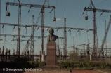 Hydroelectric plant on River Volga, Nizhny Novgorod, Russia.
