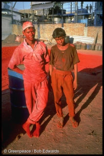 Dye workers, Ankleshwar, Gujarat, India