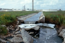 Outflow from Formosa PVC plant, Port Comfort, Texas.