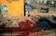 Dye effluent, Ankleshwar, Gujarat, India
