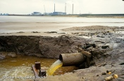 Ciba Geigy, outflow pipe. Humberside, North East England.