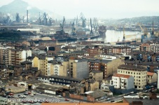 Bilbao, north Spain. Bilbao is one of the polluted city regions in Western Europe.