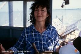 Diane Wilson, a local activist campaigning against the Formosa PVC plant, Port Comfort, Texas